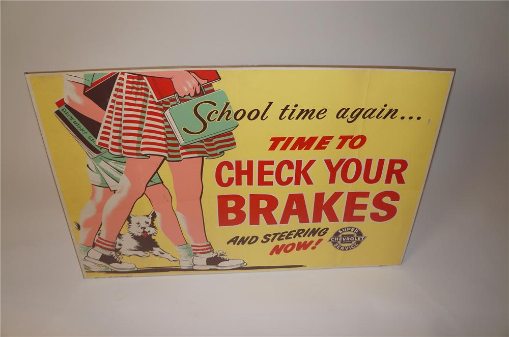 "Killer 1957 Chevrolet Super Service ""Check Your Brakes"" service department poster - Front 3/4 - 139630"