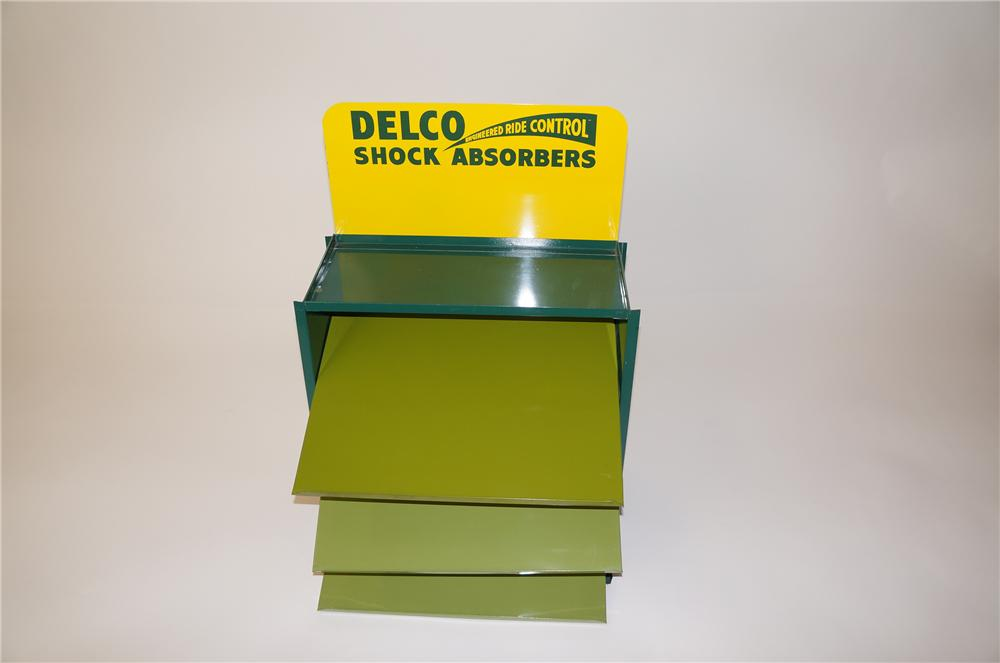 """N.O.S. 1960s GM Delco """"Engineered Ride Control"""" Shock Absorbers service department display found unused. - Front 3/4 - 139704"""