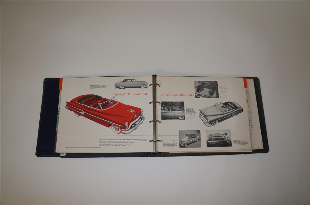 1951 Oldsmobile showroom sales dealer book filled with colors, specifications and more. - Front 3/4 - 139715