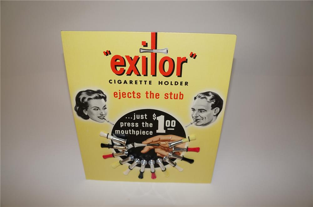 Neat 1950s Exitor Cigarette Holder service station easel backed counter display filled with original holders. - Front 3/4 - 139717