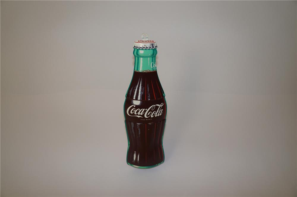 Scarce N.O.S. 1950s Coca-Cola three-dimensional die-cut bottle shaped sign. - Front 3/4 - 139721