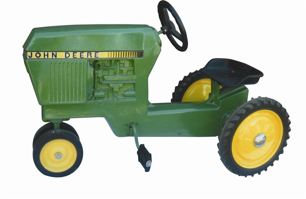 Sharp 1960s John Deere restored pedal tractor.  Restored to day one condition. - Front 3/4 - 139796