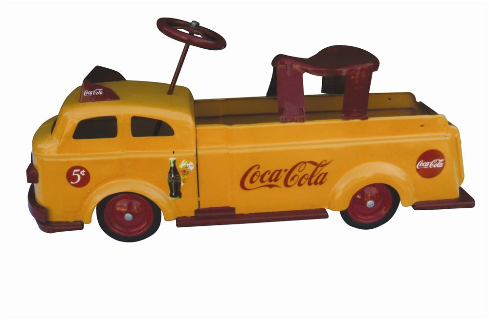 Nifty 1940s Wyandotte Coca-Cola restored childs riding toy.  Simply superb! - Front 3/4 - 139803
