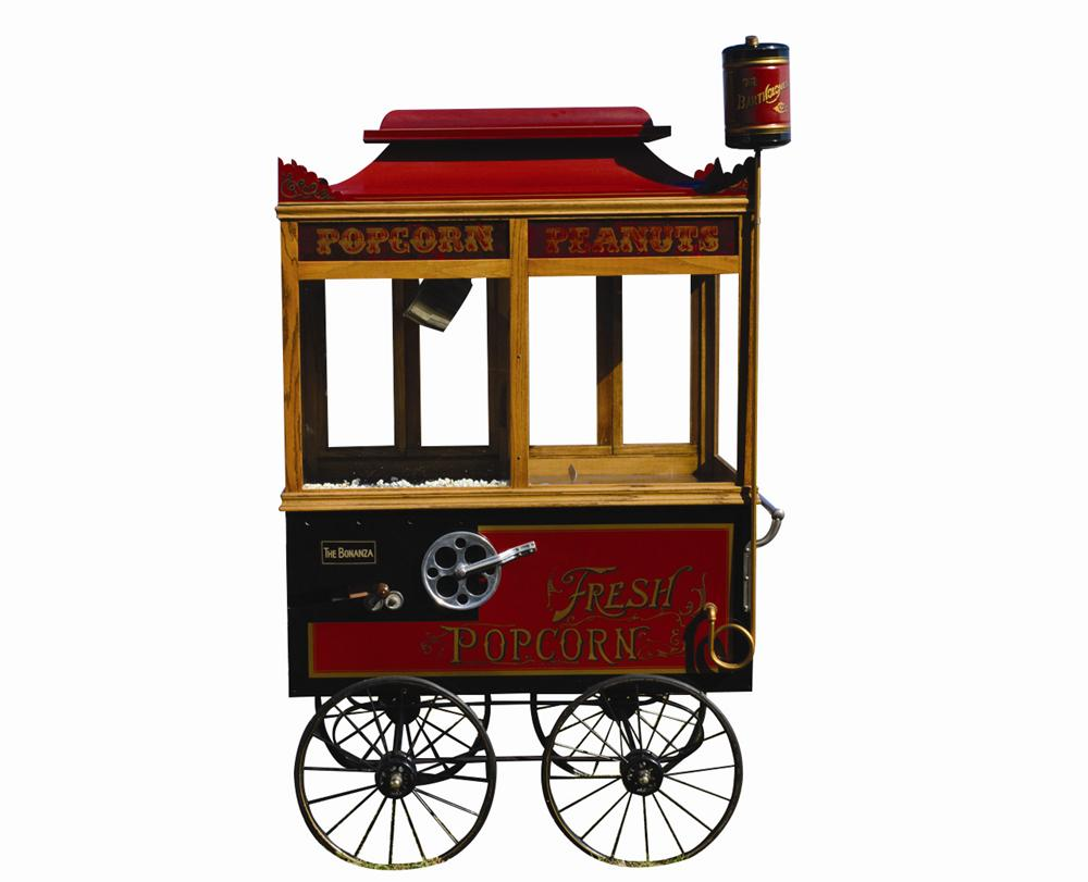 Turn of the century Popcorn-Peanut Vendors cart restored and converted from steam to electric. - Front 3/4 - 139835