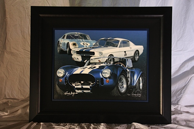 Beautiful Acryl graph on canvas personally signed by Carroll Shelby.  Legends #7 of 200. - Front 3/4 - 139842