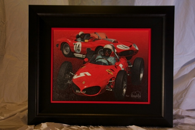 Outstanding Acryl graph on Canvas personally signed by Phil Hill.  Legends #7 of 200. - Front 3/4 - 139843