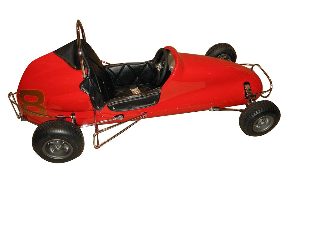 Outstanding 1957 Pacemaker standard model 1/4 midget racer beautifully restored to original with a continental engine. - Front 3/4 - 139883