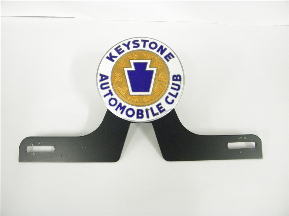 1930s Keystone Automobile Club enamel finished license plate attachment sign. - Front 3/4 - 139885