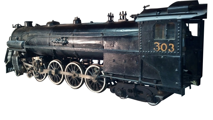 Museum quality turn of the century hand built steam train locomotive engine with tender. - Front 3/4 - 142294
