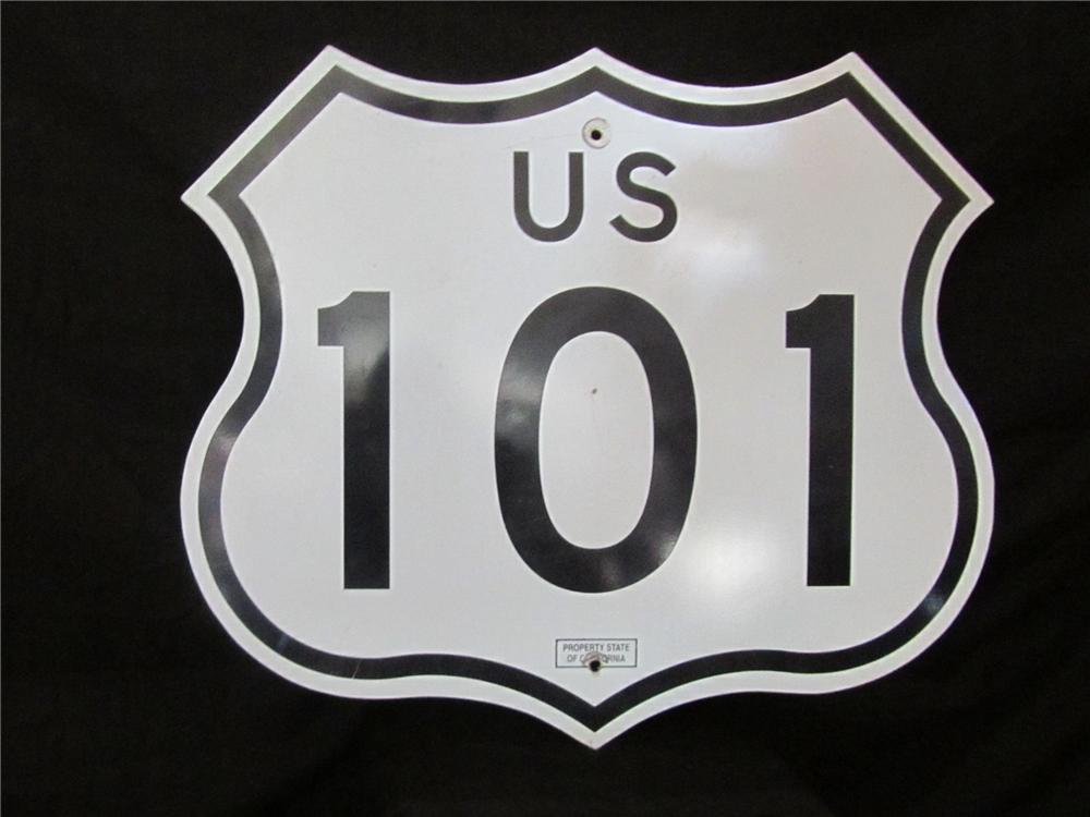 Addendum Item - Noteworthy California US Hwy 101 road sign.  Very clean and desirable. - Front 3/4 - 144413
