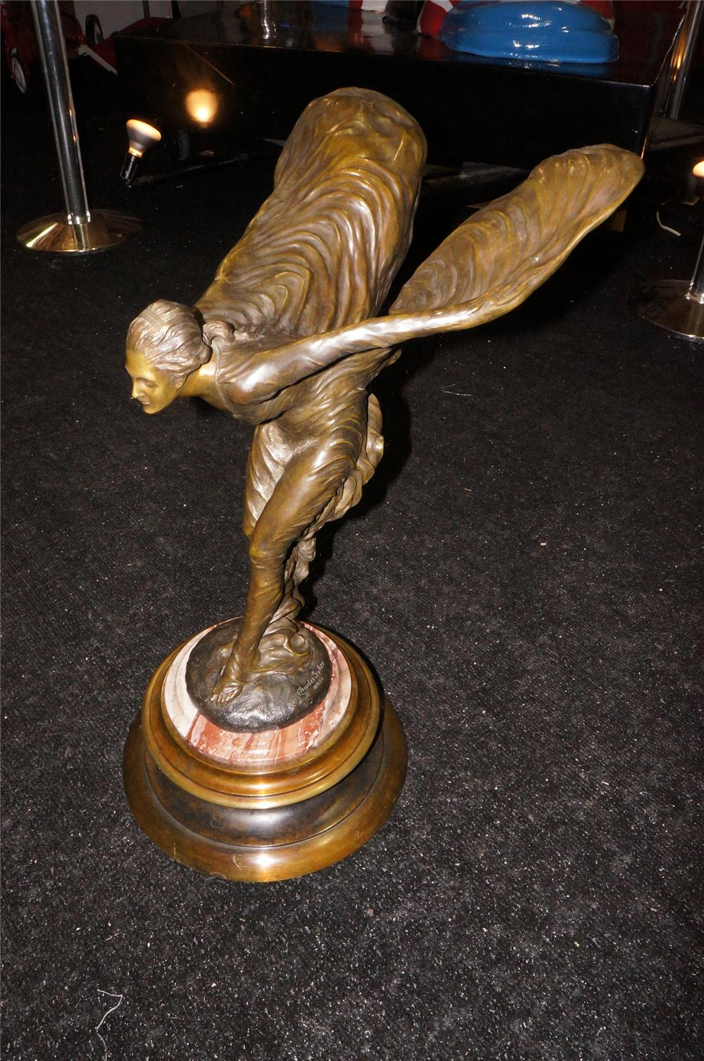 Addendum Item - Stunning Rolls Royce Spirit of Ecstasy cast bronze showroom statue by Priory of the U.K. - Front 3/4 - 145297