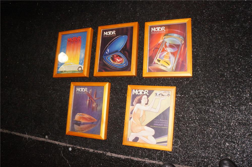 Addendum Item - Choice 1932-1940 framed collection of Motor Annual magazines with wonderful graphics. - Front 3/4 - 145302