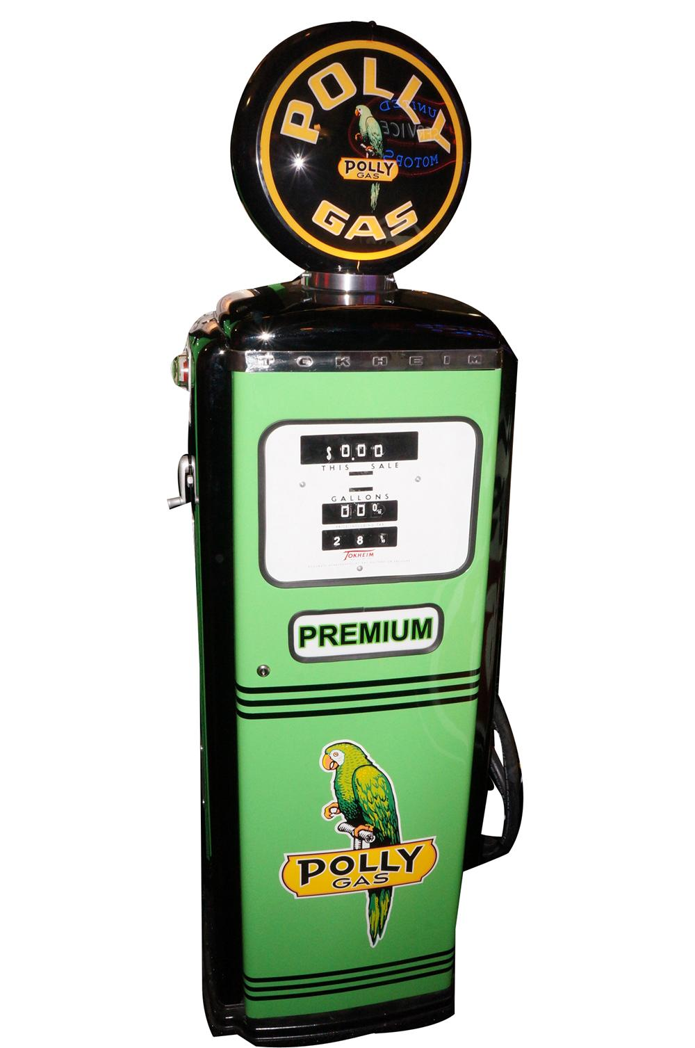 Addendum Item - Spectacular 1950s Polly Oil Tokheim model 39 restored service station gas pump. - Front 3/4 - 145305