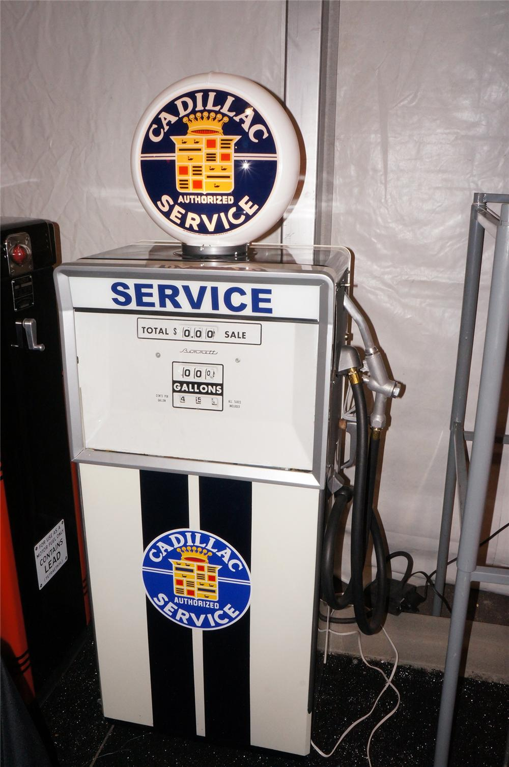 Addendum Item - 1960s dealership gas pump nicely restored in Cadillac Service regalia. - Front 3/4 - 145306