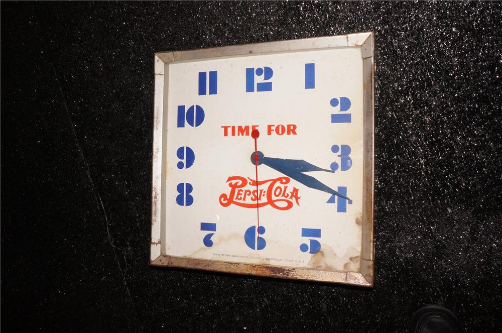 Addendum Item - 1930s Pepsi Cola soda fountain clock by sessions. - Front 3/4 - 145433