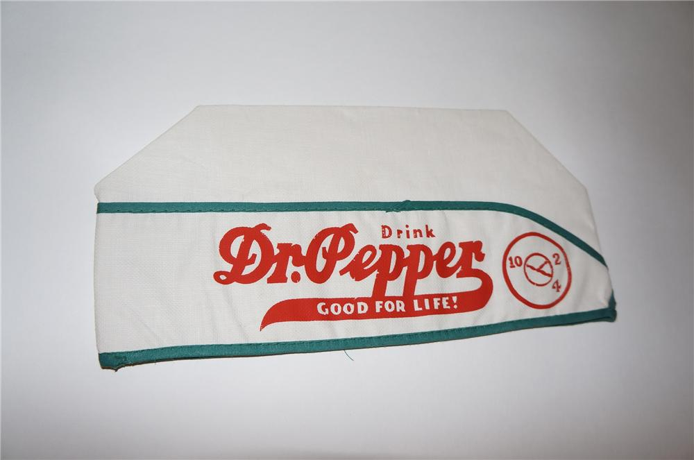 Neat 1937 Dr. Pepper soda fountain soda jerk hat.  Never used! - Front 3/4 - 151598