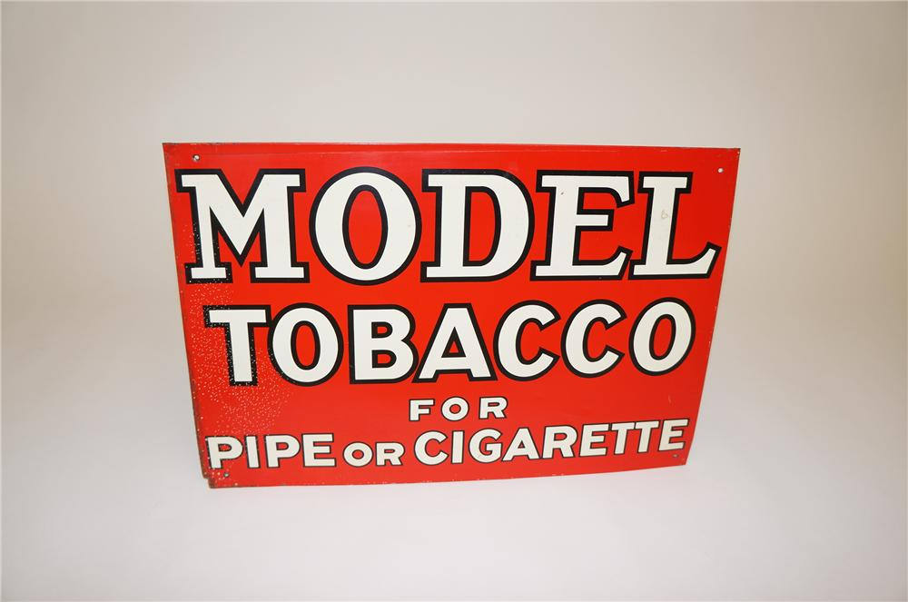 1938 Model Tobacco For Pipe or Cigarette tin general store sign. - Front 3/4 - 151760