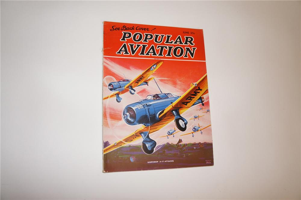 Fabulous June 1936 edition of Popular Aviation.  An incredible relic of aviations past filled with wonderful photos, illustr... - Front 3/4 - 151809