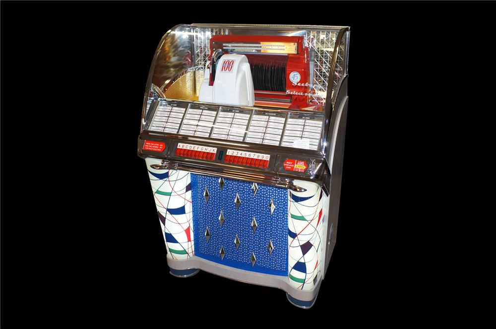 Stunning 1953 Seeburg W restored diner Juke Box.  Possibly the finest restored example known. - Front 3/4 - 151822