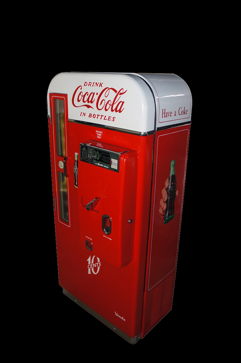 Wonderful professionally restored Coca-Cola Vendo 81 ten cent soda machine. - Front 3/4 - 151826