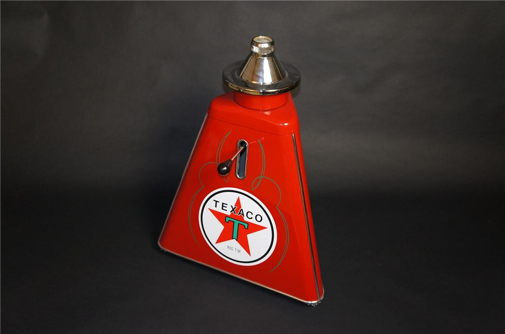 Fabulously restored 1950s Texaco service station tire wheel balancer.  Restored beyond original. - Front 3/4 - 151854