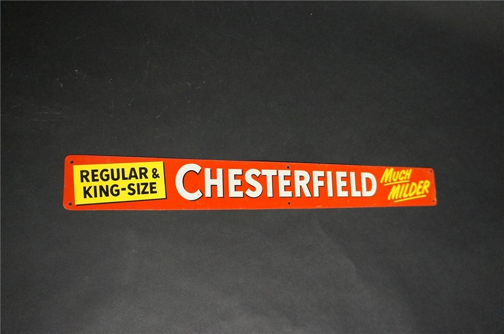 "N.O.S. 1950s Chesterfield Cigarettes ""Regular and King-Size"" single-sided tin sign. - Front 3/4 - 151862"