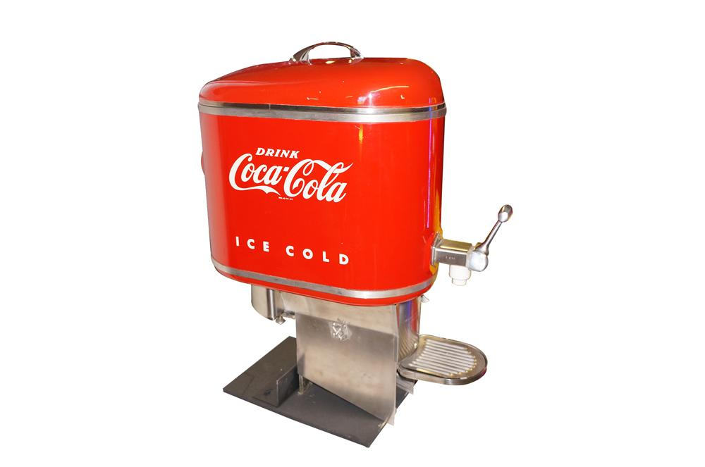 Superb all original 1950s Coca-Cola soda fountain dispenser.  One of the cleanest examples weve ever seen. - Front 3/4 - 151895
