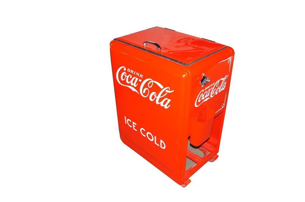 Marvelous 1930s Coca-Cola filling station/general store bottle cooler professionally restored to original. - Front 3/4 - 151896