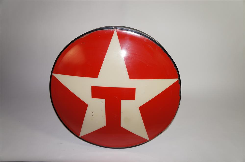 Neat vintage Texaco light-up service station sign. - Front 3/4 - 151949