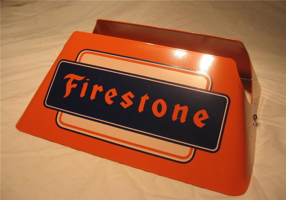 Choice 1950s Firestone Tires automotive garage metal tire display. - Front 3/4 - 151964