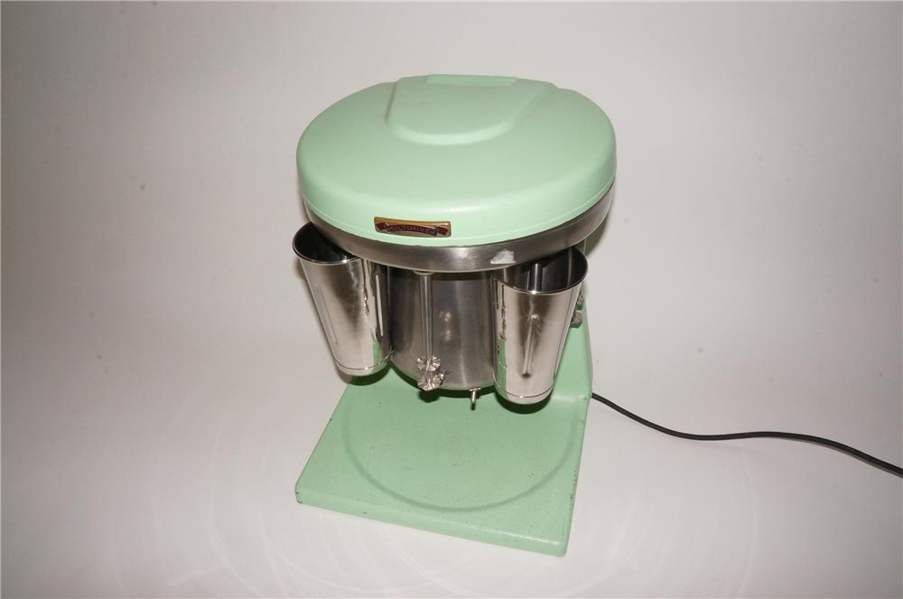 Nicely restored 1950s five head Multi-Mixer soda fountain Ice Cream Malt/Shake machine.  Works great! - Front 3/4 - 151983
