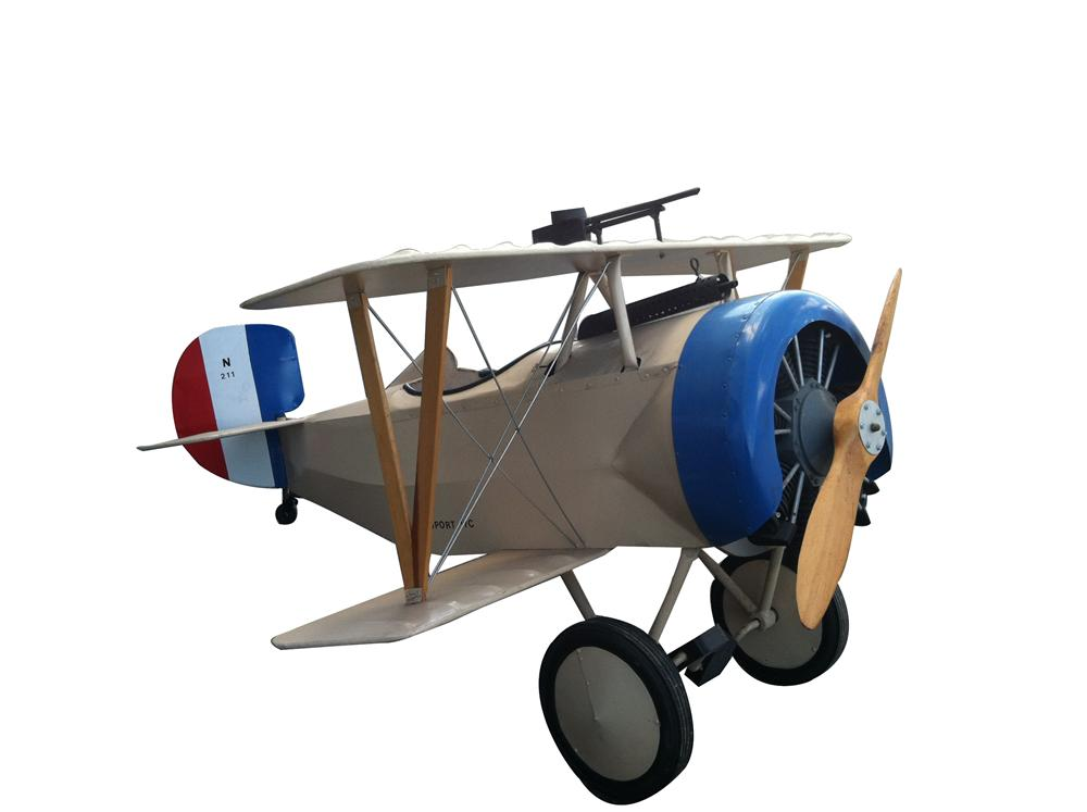 Cleverly made aircraft pedal carr modeled after the famed Nieuport Fighting Scout World War I fighter aircraft. - Front 3/4 - 152735