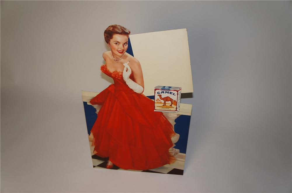 N.O.S. 1950s Chesterfield Cigarettes die-cut stand-up store display cardboard with built-in easel back. - Front 3/4 - 154390
