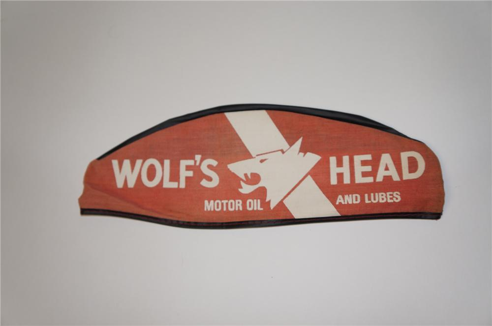 1950s Wolfs Head Motor Oil service station mechanics hat.  Appears to have never been used. - Front 3/4 - 154417