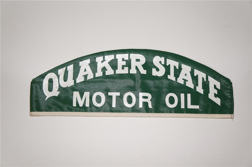 N.O.S. 1950s Quaker State Motor Oil mechanics hat found unused. - Front 3/4 - 154432