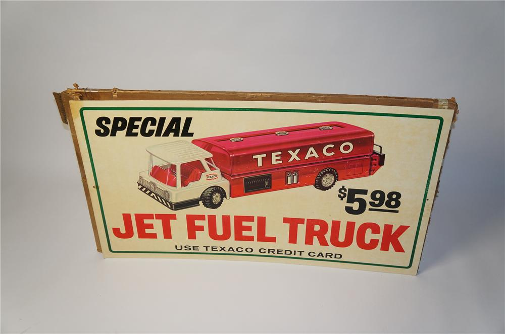 "N.O.S. 1960s Texaco Oil ""Jet Fuel Truck"" childs toy service station promotional cardboard. - Front 3/4 - 154493"