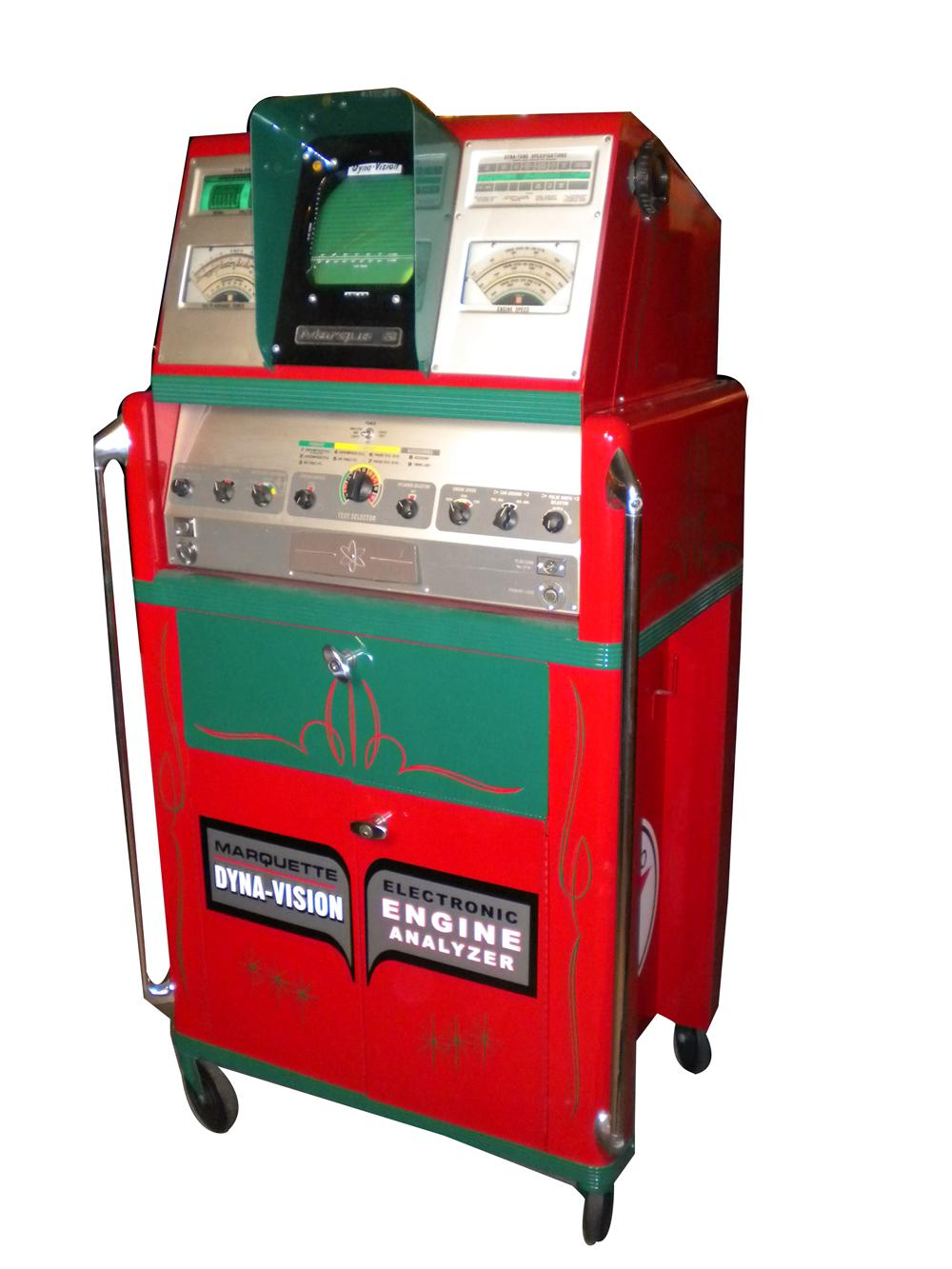 Aesthetically restored 1966 Texaco service station Marquette engine analyzer. - Front 3/4 - 154566
