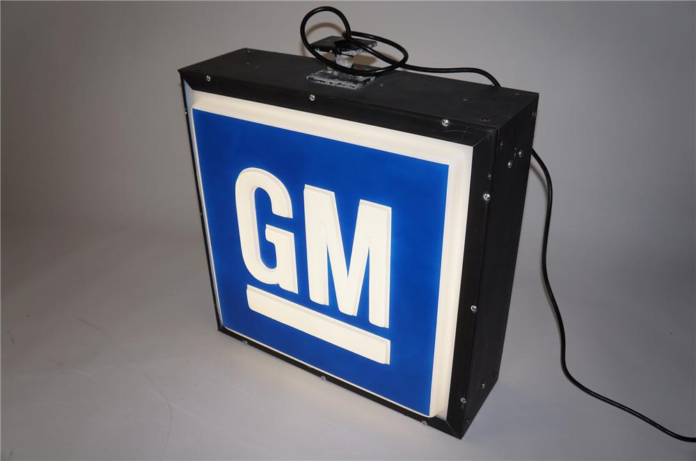 1960s GM Automobiles double-sided light-up dealership sign. - Front 3/4 - 154574