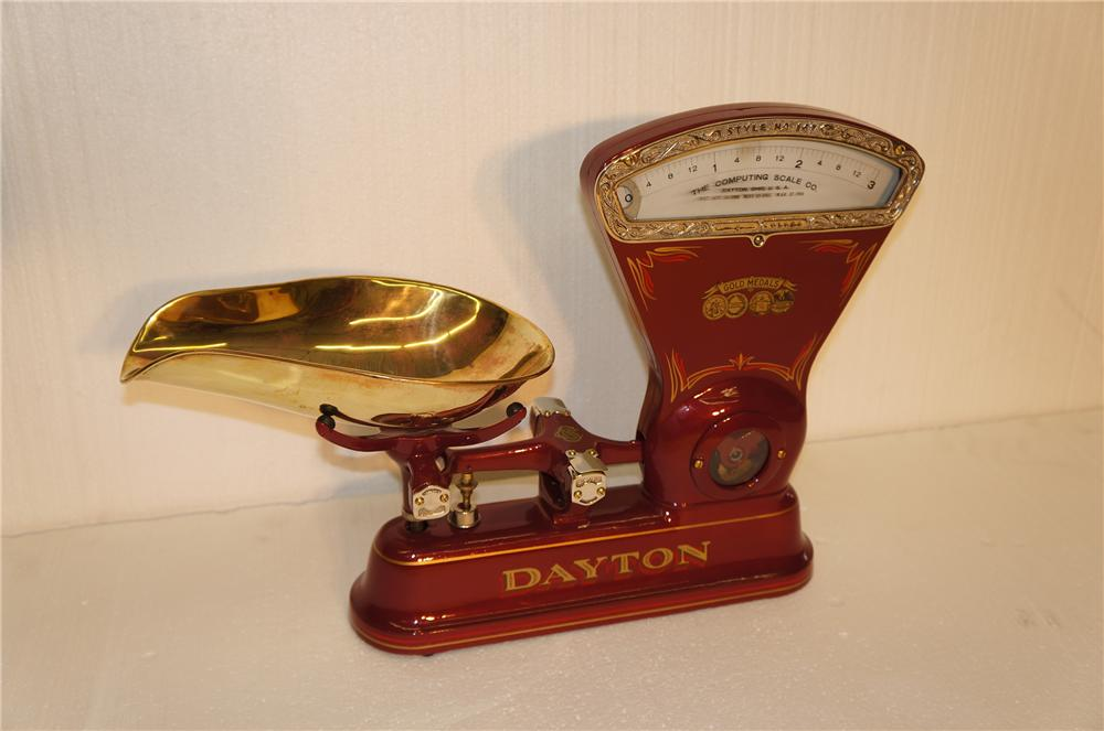 Beautifully restored turn of the century Dayton candy scale. - Front 3/4 - 154591
