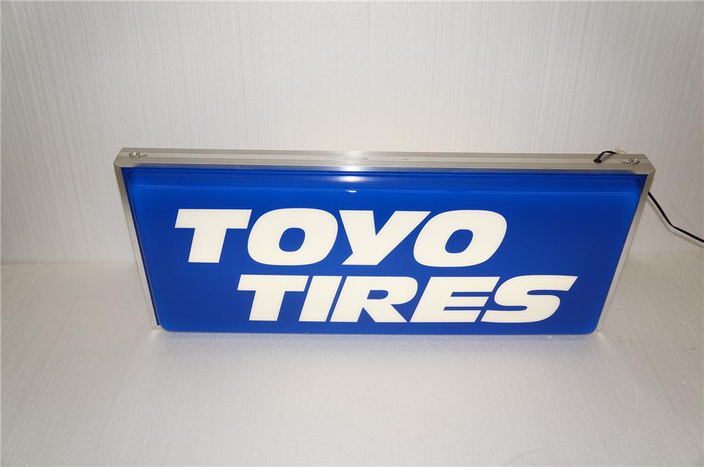N.O.S. Toyo Tires light up automotive garage sign.  Found in the original box. - Front 3/4 - 154597