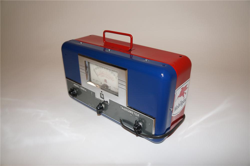 1950s aesthetically restored Mobil Oil portable engine analyzer by Hansen Co of Paw Paw Michigan. - Front 3/4 - 154641