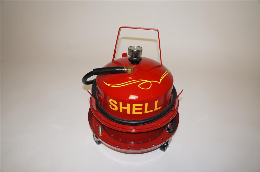1950s Shell Oil service department portable brake bleeder on wheels.  Great for use or display. - Front 3/4 - 154642