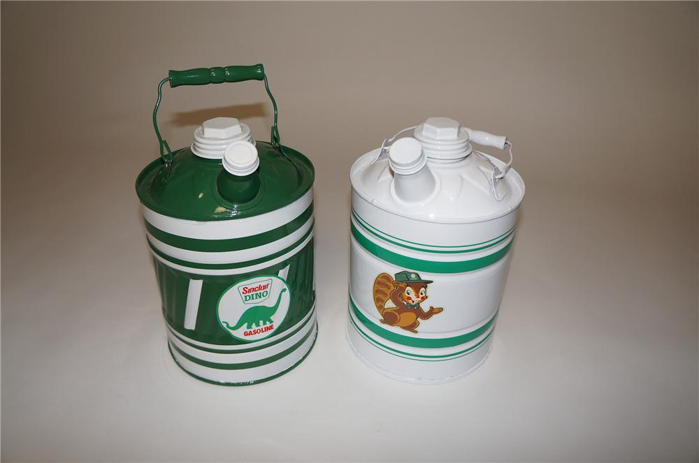 Lot of two circa 1940s-50s Sinclair Oil service department multi-fluid cans. - Front 3/4 - 154648