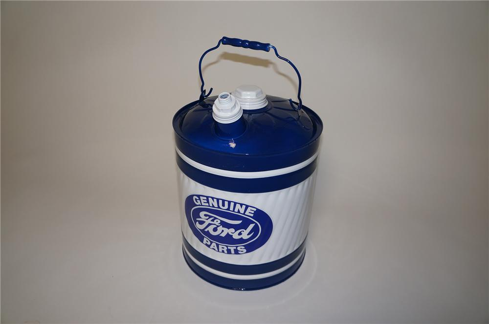 Nifty restored 1930s-40s  Ford Service department five gallon multi-fluid can. - Front 3/4 - 154655