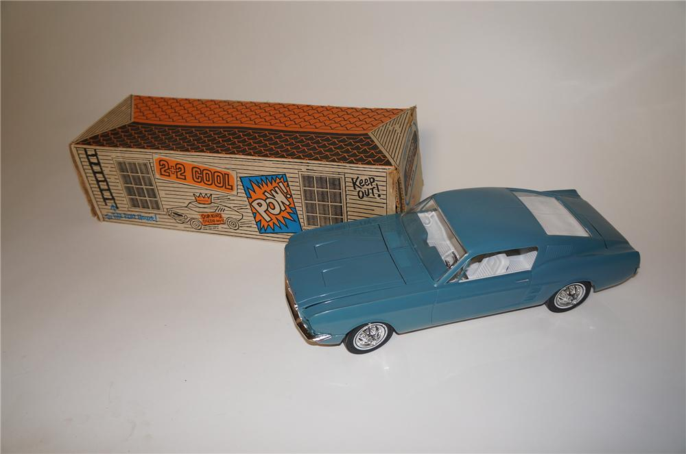 1967 Ford Fastback 2+2 Mustang battery operated motorized dealer promotional by AMF.  Found in the original box. - Front 3/4 - 154663