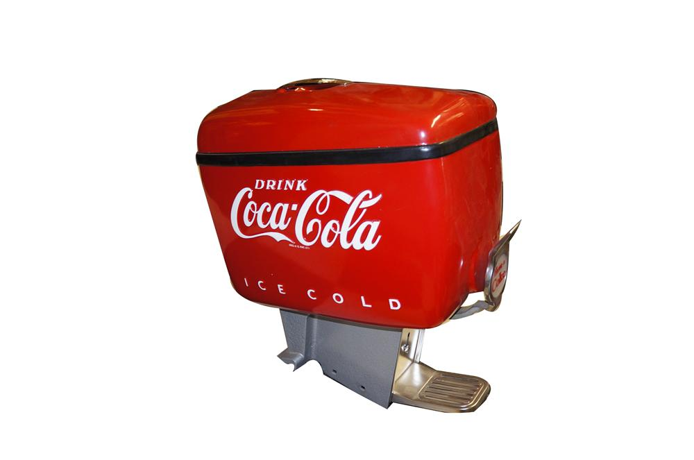 Simply amazing 1950s Coca-Cola soda fountain dispenser found in all original condition. - Front 3/4 - 154682
