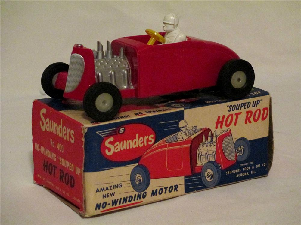 1952 N.O.S. Saunders Souped Up Hot Rod in original box. - Front 3/4 - 154715