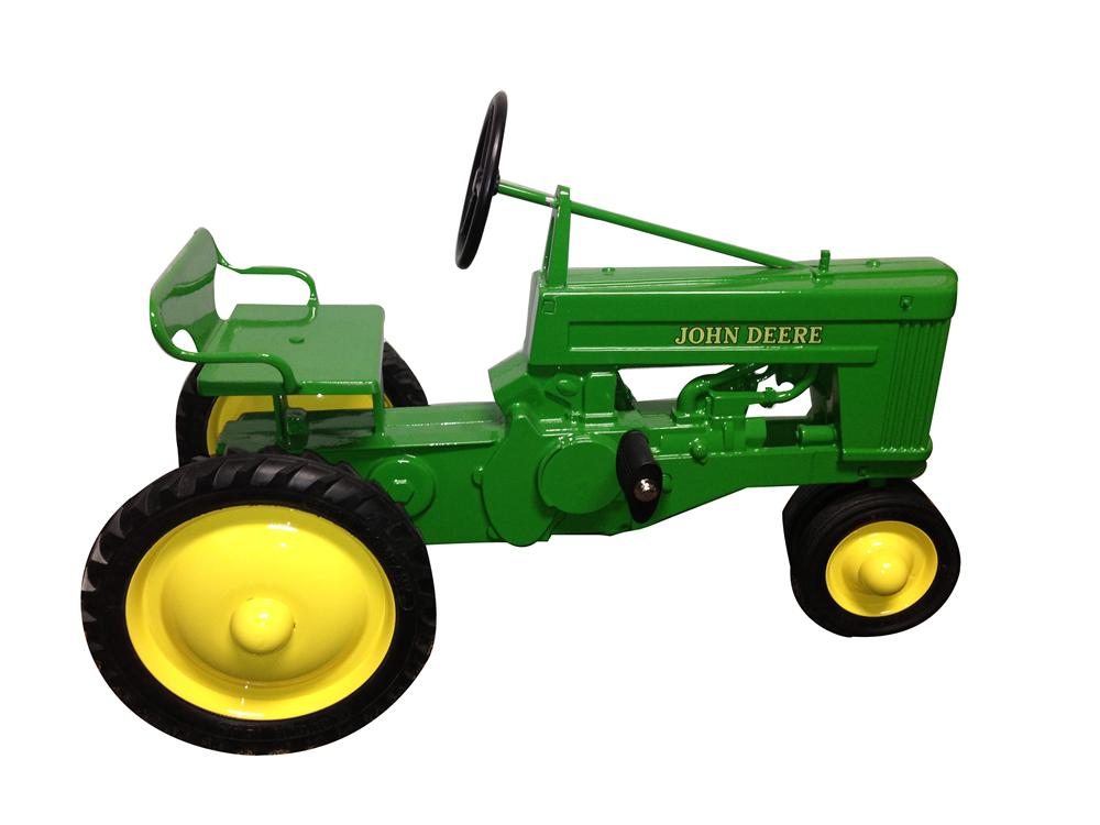 "Rare completely restored 1954 John Deere small ""60"" pedal tractor. - Front 3/4 - 154748"