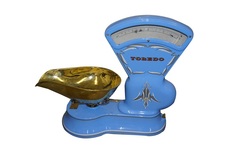 Nicely restored 1920s-30s general store candy scale.  Restored beyond original. - Front 3/4 - 158004