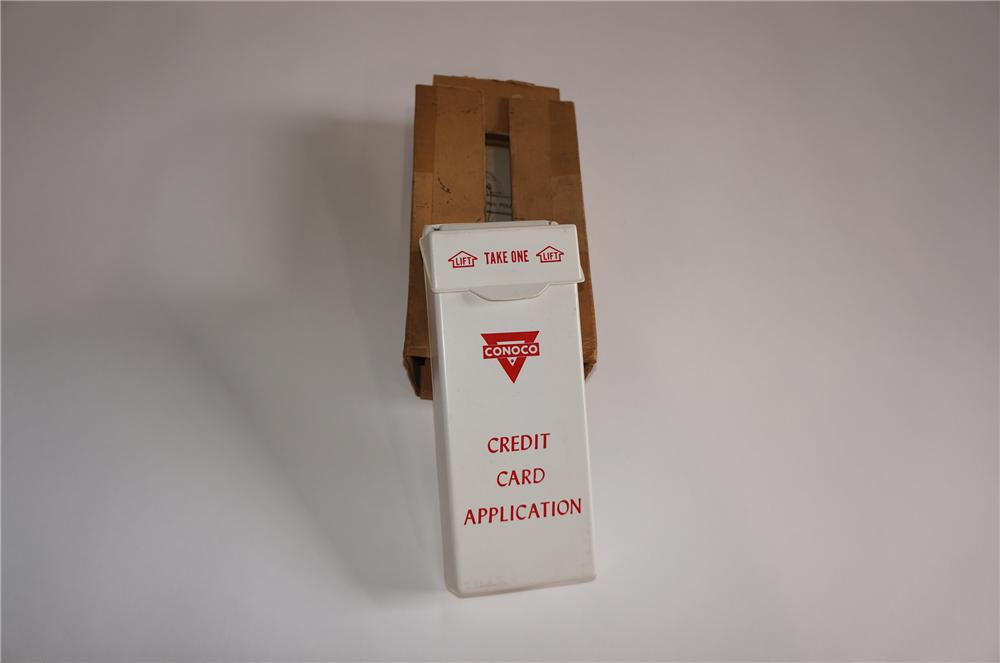 N.O.S. 1960s Conoco Oil service station credit card application fuel island display cabinet - Front 3/4 - 158054